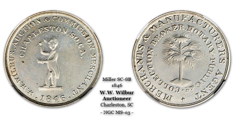 SC-8B, Obverse-2 (Period), Reverse-B (Bushy Tree), German Silver