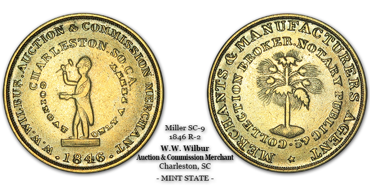 SC-9, Obverse-3 (Period), Reverse-B (Bushy Tree), Brass