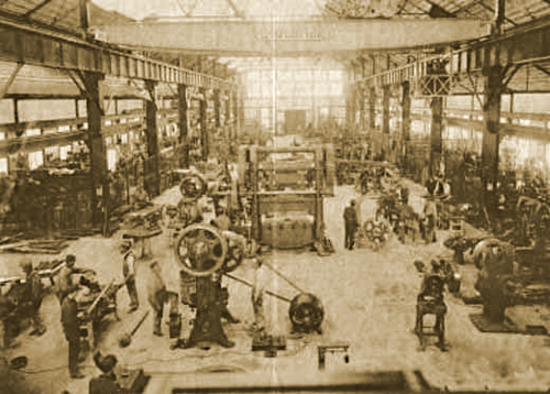 Ferracute Machine Company Assembly Line Floor in Bridgeton, New Jersey