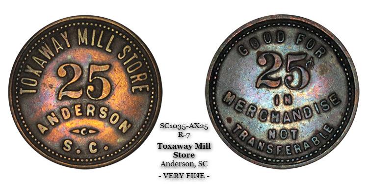 SC1035-AX50 Toxaway Mill Store Scrip