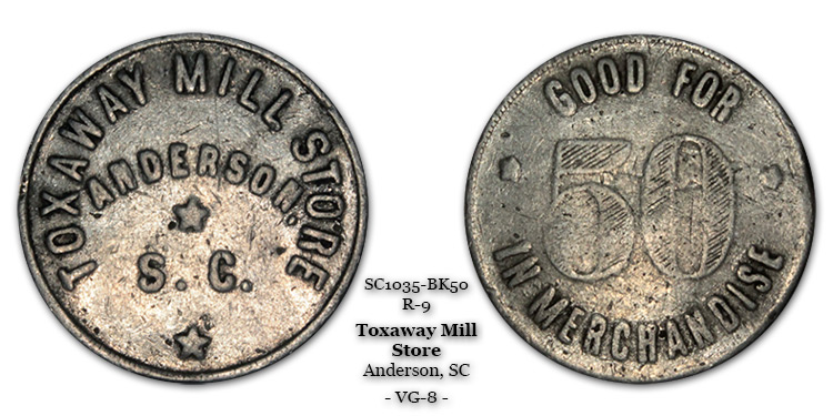 SC1035-BK50 Toxaway Mill Store Scrip