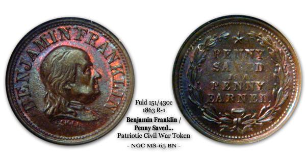 Fuld 151-430c Benjamin Franklin Penny Saved 1863