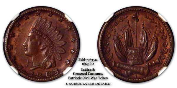 Fuld 79-351a Indian and Crossed Cannons