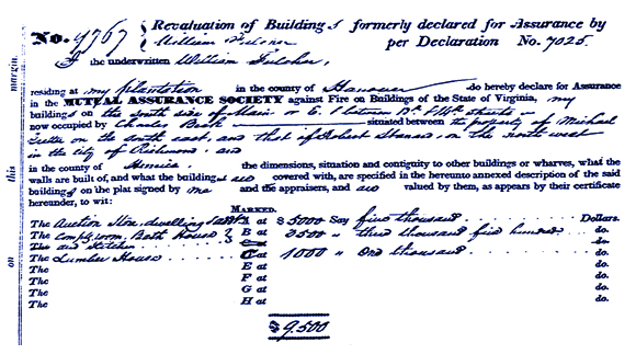 1836 Fire Insurance Policy Confirming Charles Beck and Beck's Public Baths