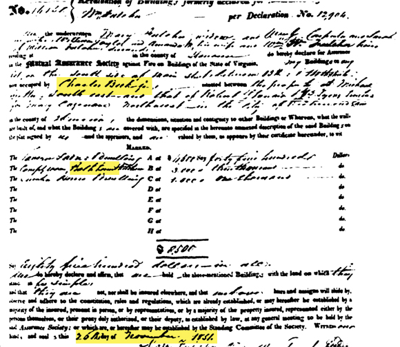 1851 Policy Confirming Charles Beck Jr, and continued existence of baths facility