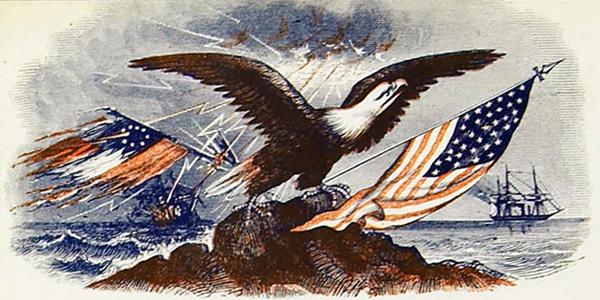 Patriotic Civil War Tokens Banner
