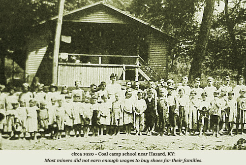 Coal Camp Town School Near Hazard Kentucky