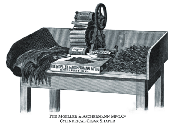 Aschermann's Cylindrical Cigar Shaper Invention