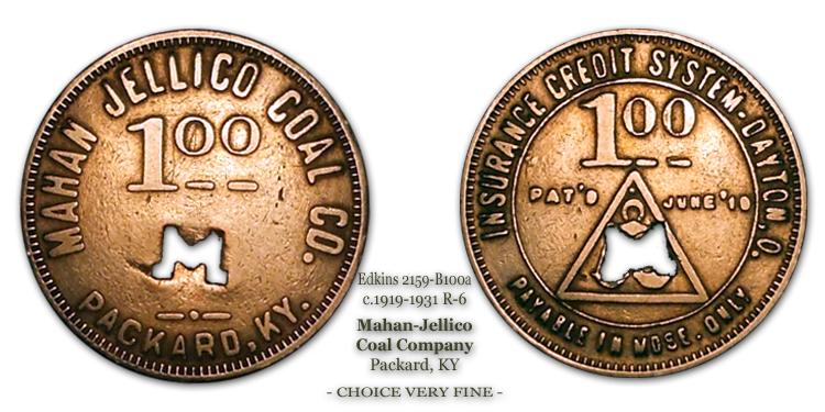 Edkins 2159-B100a Mahan Jellico Coal Company Packard Kentucky