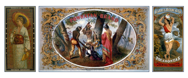 American Eagle Tobacco Company, Detroit Michigan, Powhatan Brand Tobacco, Pocahontas Chewing Tobacco - Harris, Beebe & Co