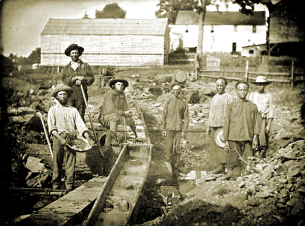 California Miners in the Mid 19th Century - Auburn Ravine, 1852