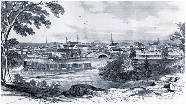 Sketch of Petersburg Virginia in the 19th Century