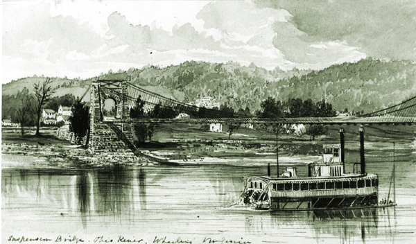 The Wheeling West Virginia Suspension Bridge