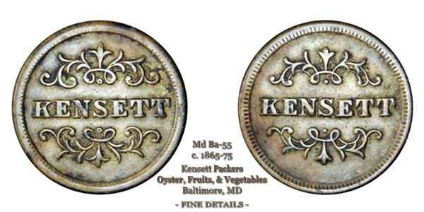 Kensett Packers - Md-Ba-55 Baltimore Md Token