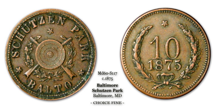 MD60-S17 Schutzen Park Balto. Ten-Cents 10-Cents
