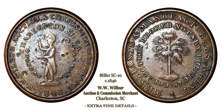 SC-10, Obverse-3 (Period), Reverse-B (Bushy Tree), Copper