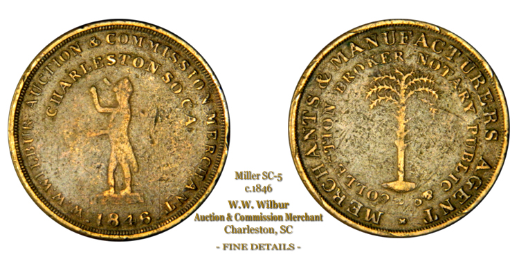 SC-5, Obverse-1 (No Period), Reverse-A (Thin Tree), Brass