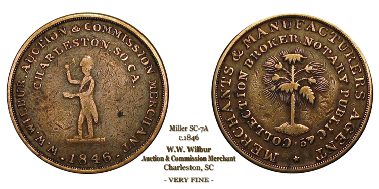 SC-7A, Obverse-2 (Period), Reverse-B (Bushy Tree), Copper