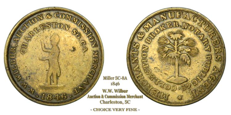 SC-8A, Obverse-2 (Period), Reverse-B (Bushy Tree), Brass