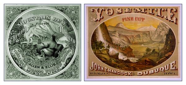Mountain Dew Fine Cut Chewing Tobacco - Allen and Ellis, Yosemite John T. Hancock Dubuque Fine Cut Tobacco