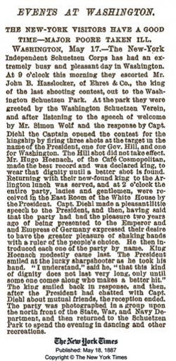 Washington's Schuetzen Park Newspaper Clipping NY Times