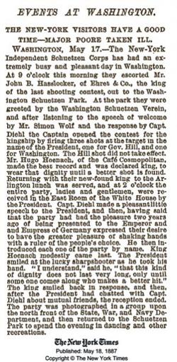 Washington's Schuetzen Park Newspaper Clipping NY Times