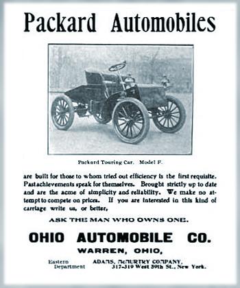 Ohio Automobile Company Warren Ohio Packard Automobiles