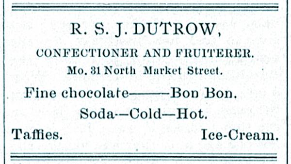 R.S.J. Dutrow, Confectioner