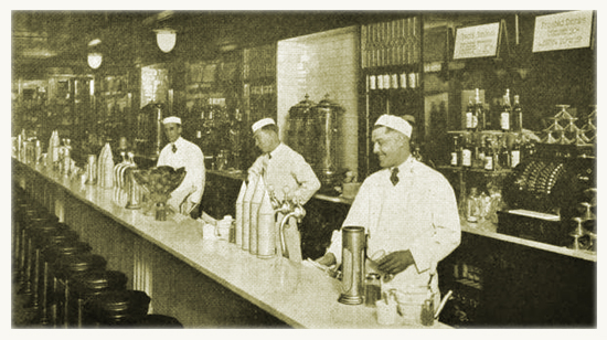 Typical Early 20th Century Soda Fountain