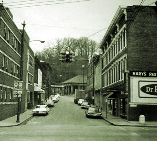 Original 111 South Augusta Street, Staunton Virginia 1960s Site of John Burns Saloon Tavern
