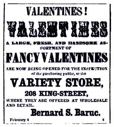 Bernard S. Baruc B.S. Baruc, Variety Store 208 King Street, Valentines, 1856