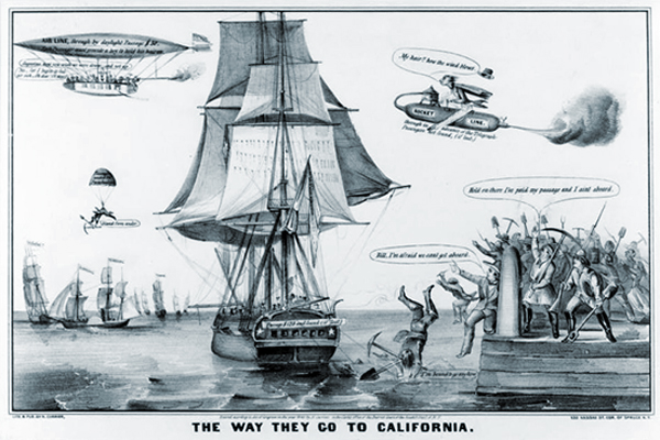 The way they go to California - comic