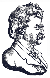 "Johann ""John"" Marr Wood Engraving Bust and Sculpture of Mark Twain"