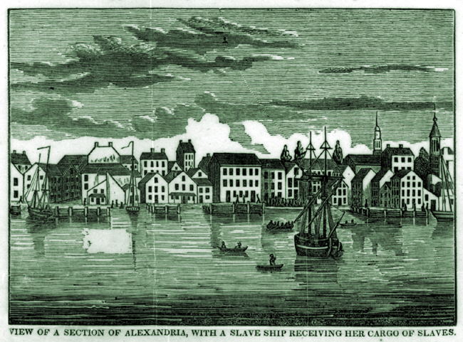 View of a Section of Alexandria with Cargo of Slaves