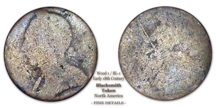 Canadian Blacksmith Token Wood-1 BL-1