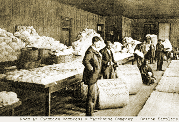 Champion Compress & Warehouse Company - Cotton Samplers Room