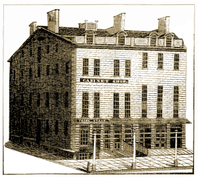 Starr's Furniture Manufactory, which later became his Piano Manufactory and Music Store
