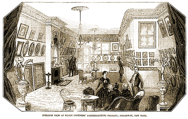 Interior View of Meade Brothers' Daguerreotype Gallery