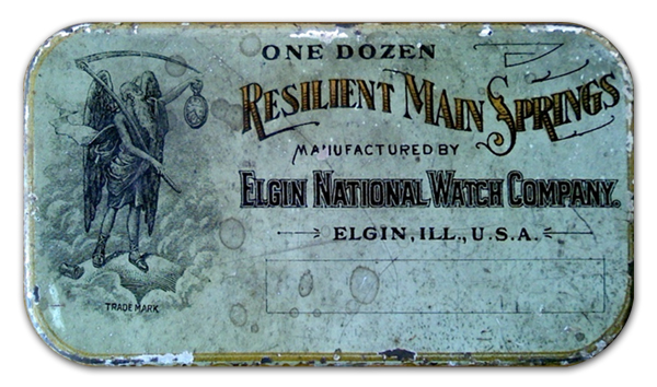 Elgin National Watch Company Resilient Main Springs Tin