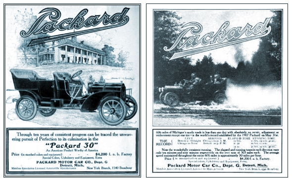 "Packard Motor Car Company The Packard ""30""  606 Miles in Michigan, No Failures but a flat tire."