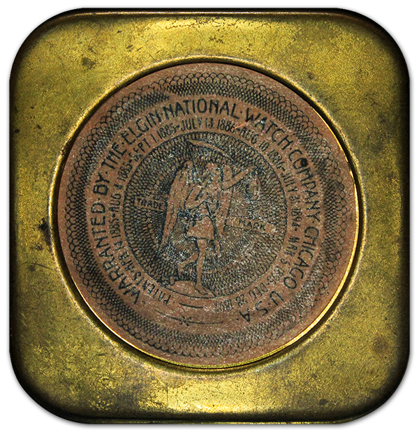 Elgin National Watch Company Brass Tin
