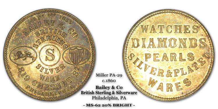 Miller Pa-29 Bailey & Co Philadelphia
