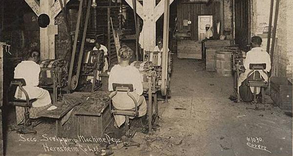 S. Hernsheim Tobacco Stripping Department