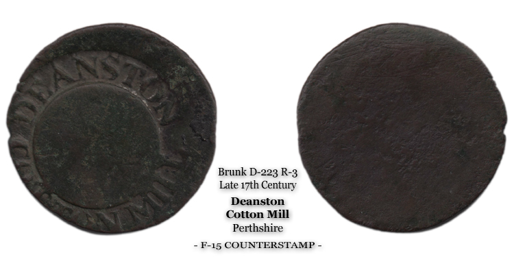 Brunk D-223 Deanston Cotton Mill Token