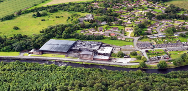 Aerial View of Deanston Cotton Mill and Village