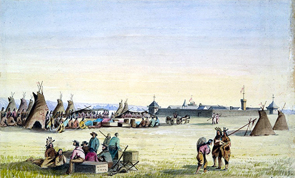 Fort Union and the Distribution of Goods to the Assinniboines