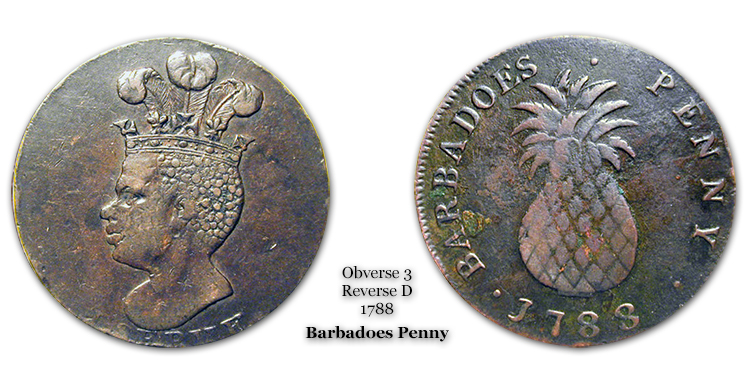 1788 Barbadoes Penny Obverse 3 Reverse D