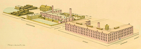 Map of the William A. Drown Manufactory