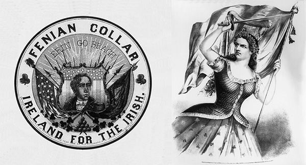 Support for the movement appeared in popular media, including a lithograph of an Irish woman by Currier & Ives