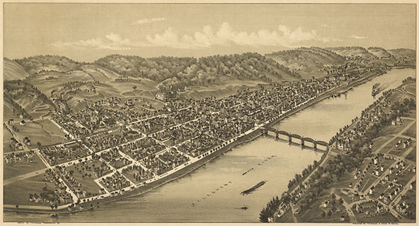 Kittanning Bridge over Allegheny River circa 1896